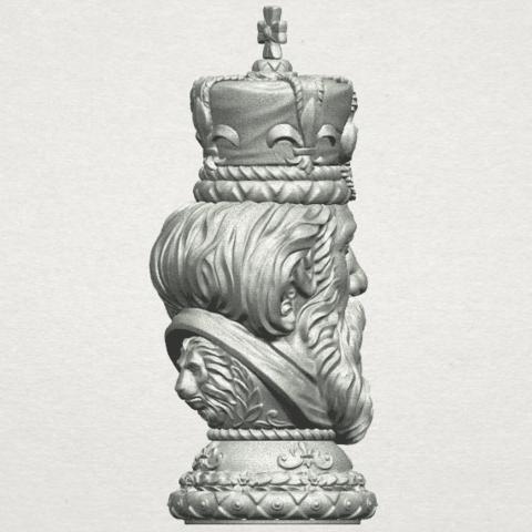 TDA0254 Chess-The King A08.png Télécharger fichier STL gratuit Chess-Le roi des échecs • Objet pour impression 3D, GeorgesNikkei