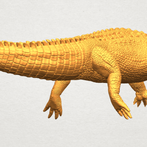 A10.png Download free STL file Alligator 01 • 3D printer object, GeorgesNikkei