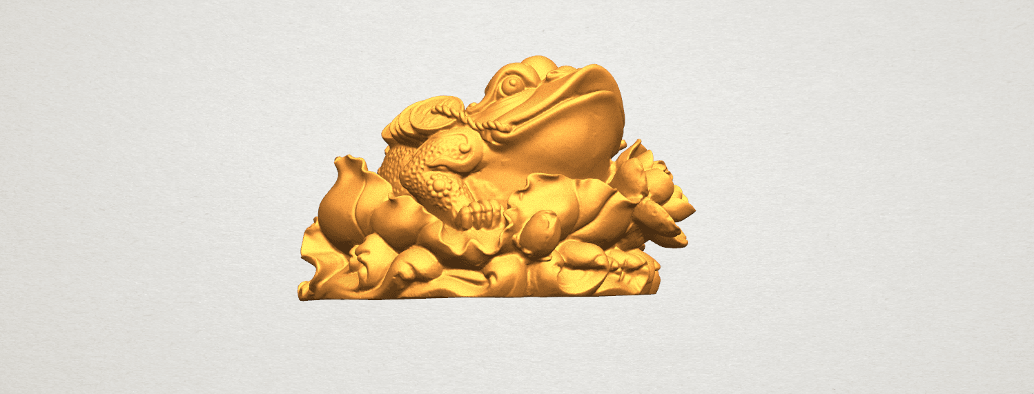 TDA0336 The Golden Toad A05.png Download free STL file The Golden Toad • 3D printer design, GeorgesNikkei