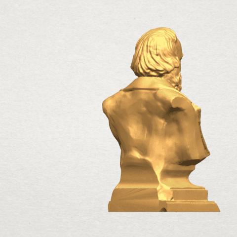 TDA0621 Sculpture of a head of man 03 A05.png Télécharger fichier STL gratuit Sculpture d'une tête d'homme 03 • Plan pour impression 3D, GeorgesNikkei