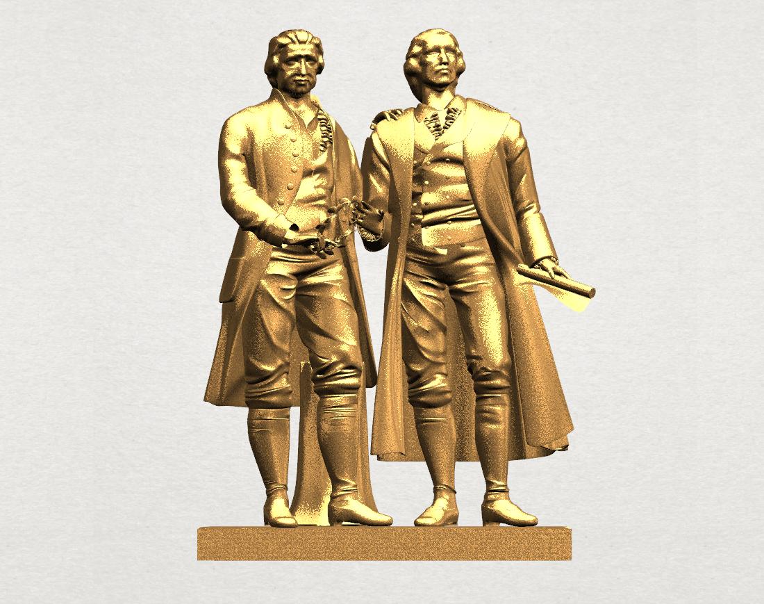 Goethe schiller 80mm - A00.png Télécharger fichier STL gratuit Goethe Schiller • Modèle imprimable en 3D, GeorgesNikkei