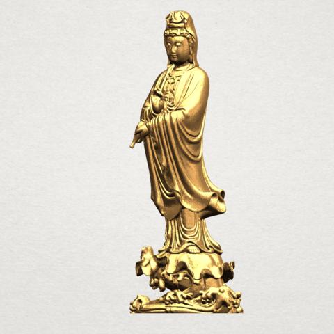 Avalokitesvara Buddha - Standing (v) A02.png Download free STL file Avalokitesvara Buddha - Standing 05 • 3D printer template, GeorgesNikkei