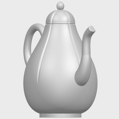 19_TDA0323_Tea_Pot_iiA08.png Download free STL file Tea Pot 02 • 3D printer template, GeorgesNikkei