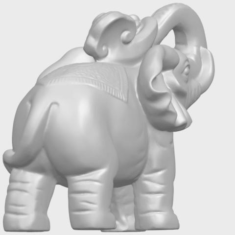 09_Elephant_02_150mmA08.png Télécharger fichier STL gratuit Eléphant 02 • Plan imprimable en 3D, GeorgesNikkei