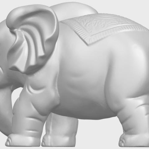 Elephant_03_-122mmA05.png Télécharger fichier STL gratuit Éléphant 03 • Modèle imprimable en 3D, GeorgesNikkei