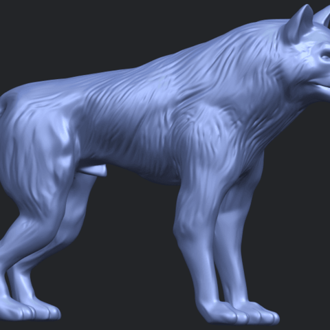 14_TDA0610_WolfB07.png Download free STL file Wolf • 3D printable design, GeorgesNikkei