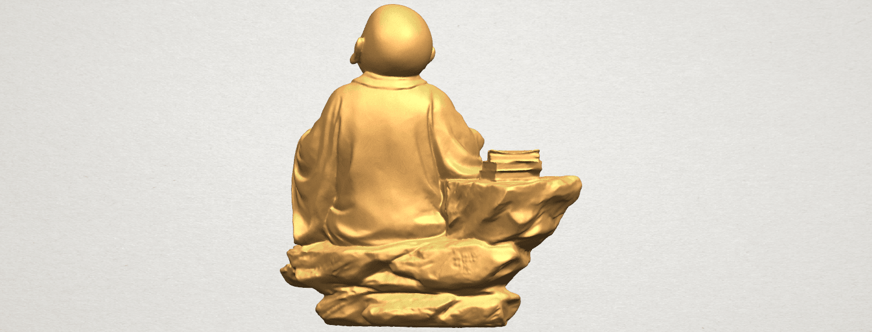 TDA0558 Little Monk Drink Tea A06.png Télécharger fichier STL gratuit Boire du thé Little Monk Drink Tea • Design à imprimer en 3D, GeorgesNikkei