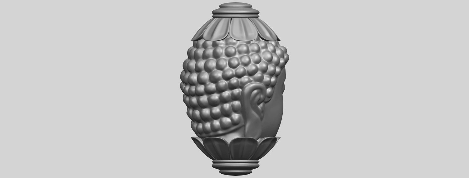 11_Buddha_Head_Sculpture_80mmA08.png Download free STL file Buddha - Head Sculpture • 3D printing model, GeorgesNikkei