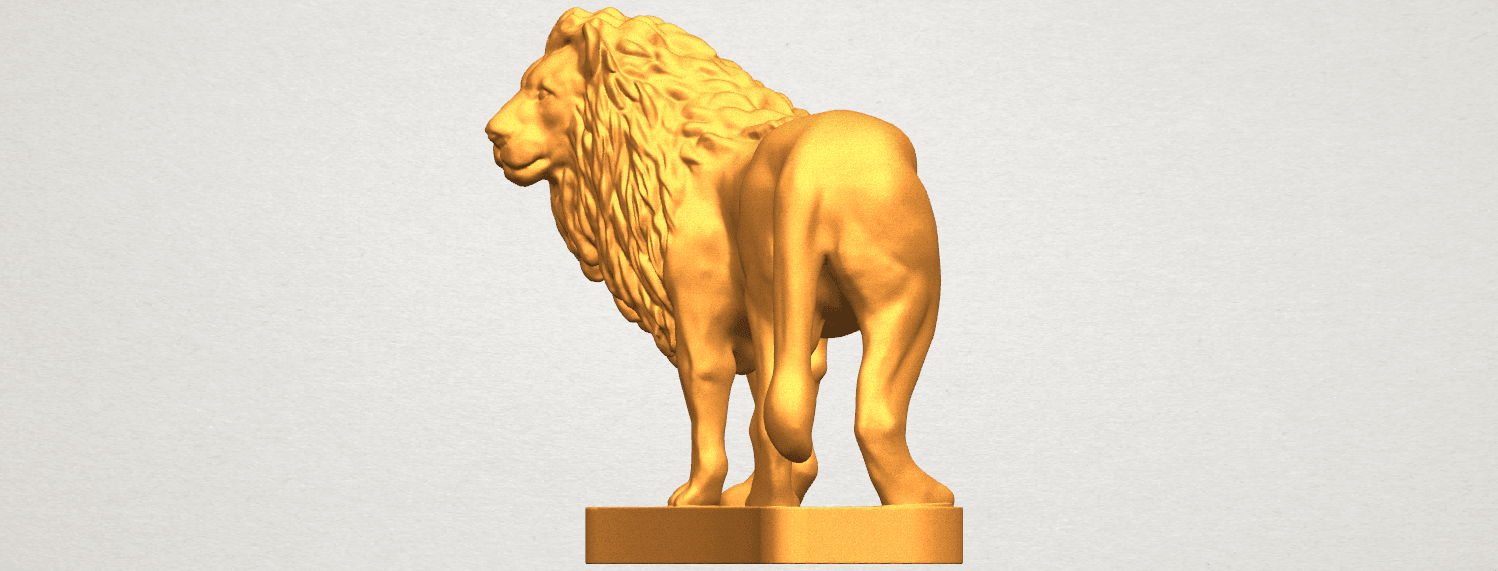 TDA0313 Lion (iii) A02.png Download free STL file Lion 03 • 3D printable template, GeorgesNikkei