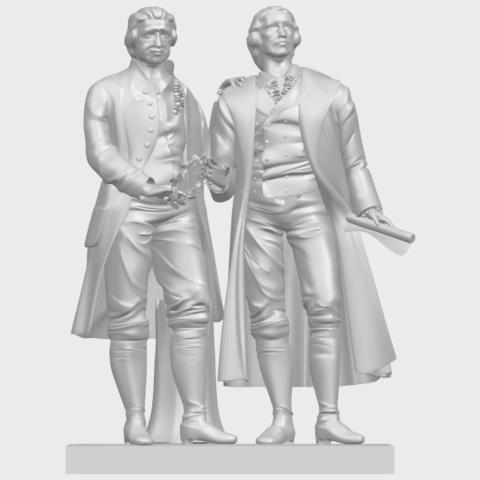 15_Goethe_schiller_80mmA01.png Télécharger fichier STL gratuit Goethe Schiller • Modèle imprimable en 3D, GeorgesNikkei