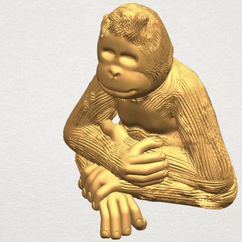 TDA0606 Chimpanzee A08.png Télécharger fichier STL gratuit Chimpanzé • Design imprimable en 3D, GeorgesNikkei