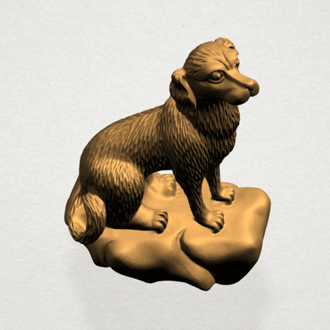 ZChinese Horoscope11-A05.png Download free STL file Chinese Horoscope 11 Dog • 3D print design, GeorgesNikkei