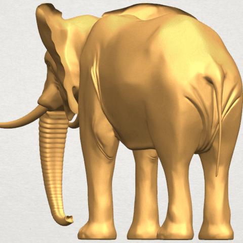 TDA0592 Elephant 07 A03.png Télécharger fichier STL gratuit Eléphant 07 • Objet à imprimer en 3D, GeorgesNikkei