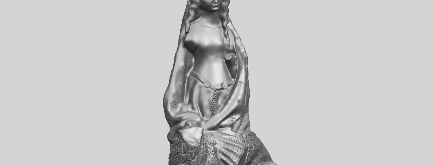 St Margaret 88mmA10.png Download free STL file Saint Margaret  • Template to 3D print, GeorgesNikkei