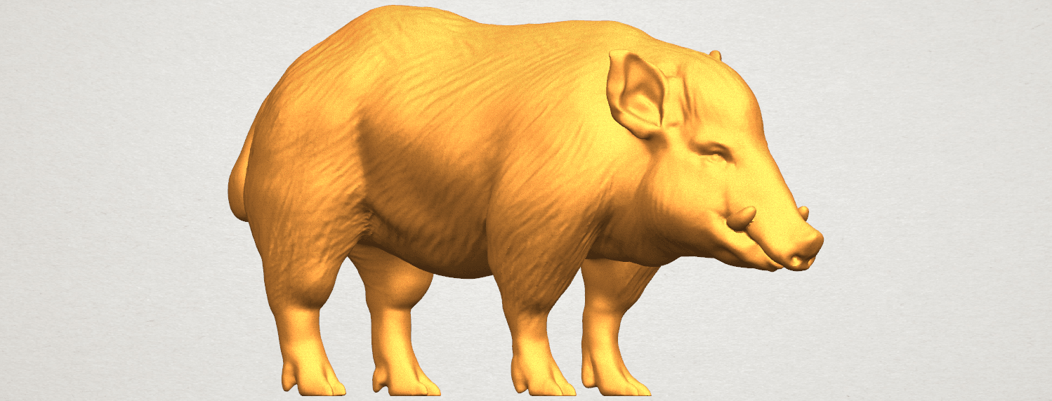 TDA0320 Pig (ii) A05.png Download free STL file Pig 02 • 3D printable object, GeorgesNikkei