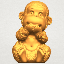 Free 3D model Monkey A04, GeorgesNikkei