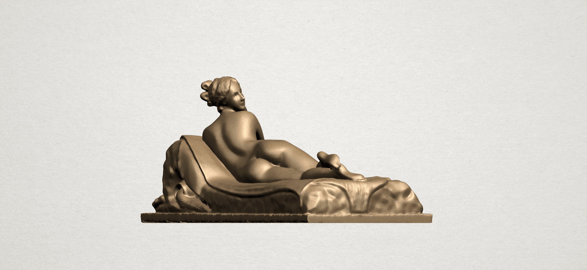 Lying on Bed (i) A04.png Download free STL file Naked Girl - Lying on Bed 01 • 3D printable object, GeorgesNikkei