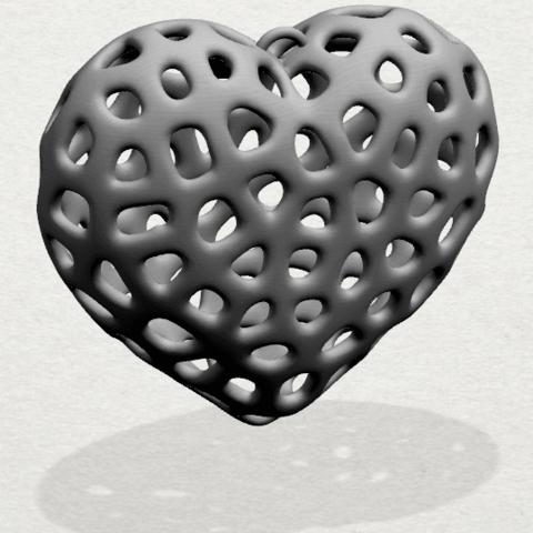 Necklaces -Voronoi Heart- A01 -000.png Télécharger fichier STL gratuit Colliers -Voronoi Coeur de Voronoi • Plan pour imprimante 3D, GeorgesNikkei