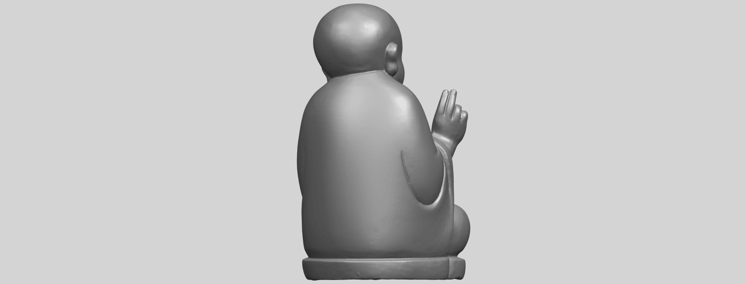 TDA0732_Little_Monk_05A07.png Download free STL file Little Monk 05 • 3D printing template, GeorgesNikkei