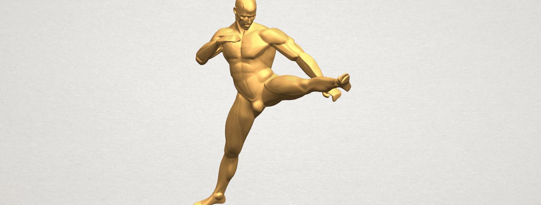 TDA0547 Man Kicking A08.png Télécharger fichier STL gratuit Man Kicking • Objet pour impression 3D, GeorgesNikkei