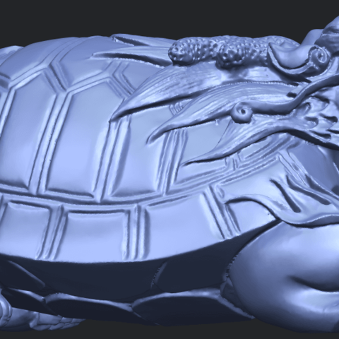 01_TDA0333_Dragon_TortoiseB07.png Download free STL file Dragon  Tortoise • Model to 3D print, GeorgesNikkei