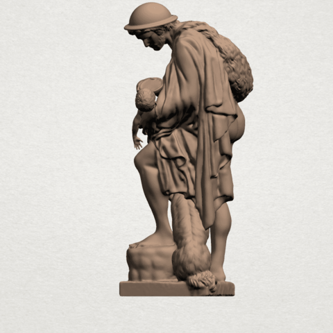 Father and Son (iii) A03.png Download free STL file Father and Son 3 • 3D print model, GeorgesNikkei