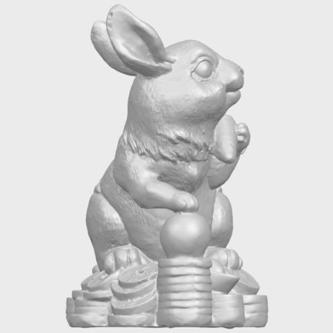 07_TDA0559_Rabbit_02A09.png Télécharger fichier STL gratuit Lapin 02 • Design imprimable en 3D, GeorgesNikkei