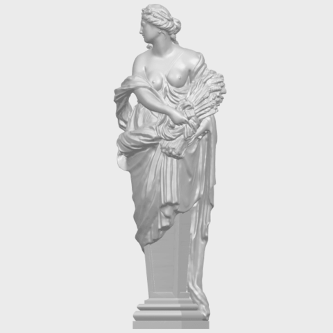12_TDA0260_Sculpture_AutumnA02.png Download free STL file Sculpture - Autumn • 3D print template, GeorgesNikkei