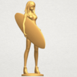 TDA0590 Girl surfing board 02 A09.png Download free STL file Girl surfing board 02 • 3D printable object, GeorgesNikkei