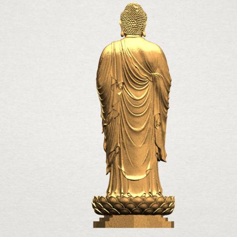 Gautama Buddha Standing (ii) A05.png Download free STL file Gautama Buddha Standing 02 • 3D printer design, GeorgesNikkei