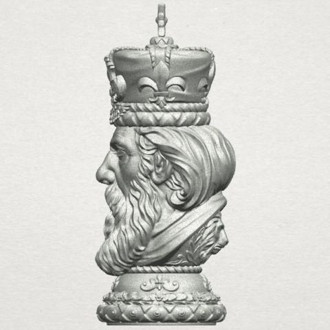 TDA0254 Chess-The King A04.png Télécharger fichier STL gratuit Chess-Le roi des échecs • Objet pour impression 3D, GeorgesNikkei