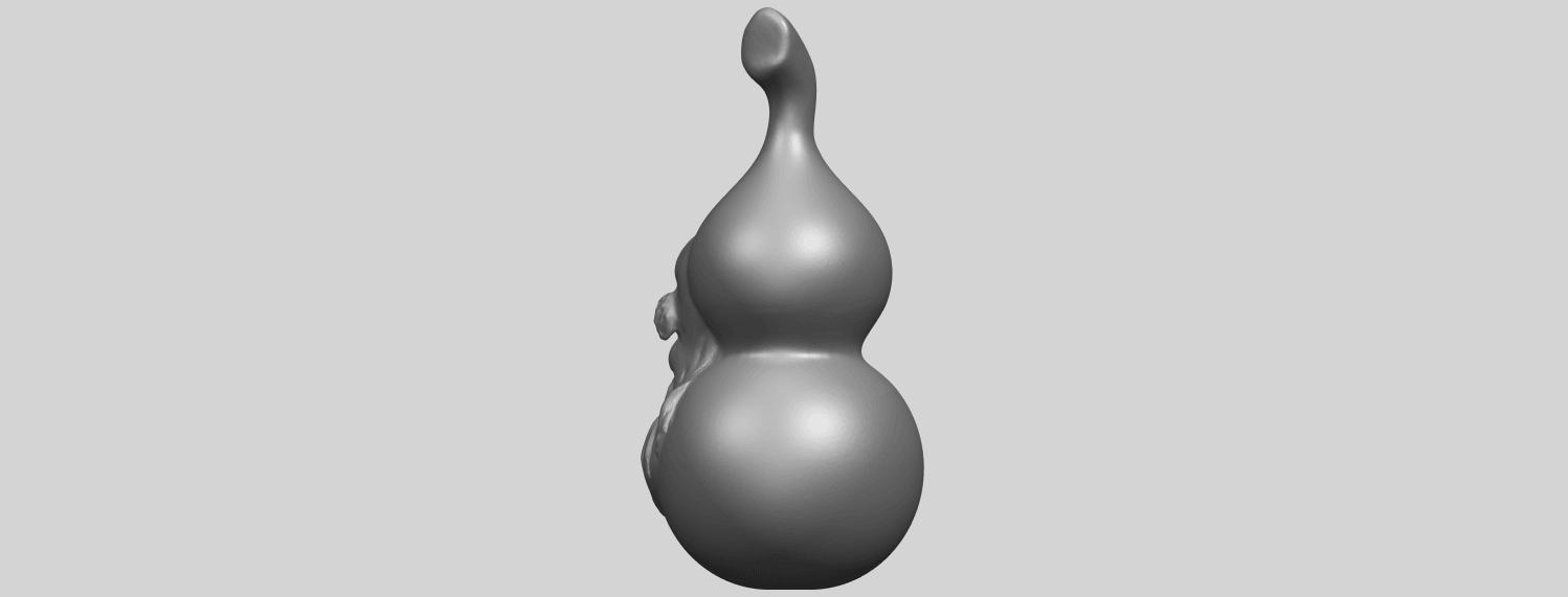 11_TDA0335_Bottle_Gourd_01A05.png Download free STL file Bottle Gourd 01 • 3D printing template, GeorgesNikkei
