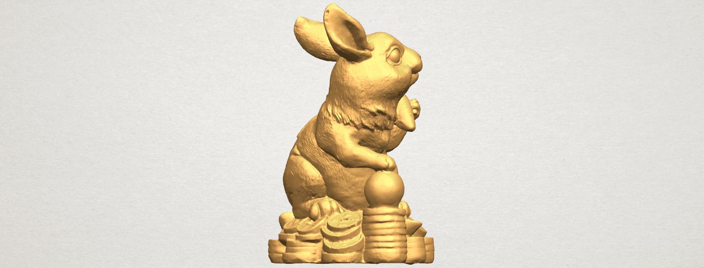TDA0559 Rabbit 02 A05.png Télécharger fichier STL gratuit Lapin 02 • Design imprimable en 3D, GeorgesNikkei