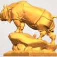 Télécharger STL gratuit Rhinocéros 03, GeorgesNikkei