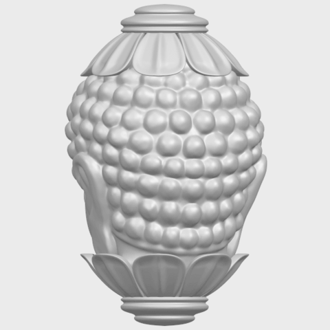 11_Buddha_Head_Sculpture_80mmA06.png Download free STL file Buddha - Head Sculpture • 3D printing model, GeorgesNikkei
