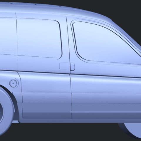 TDB002_1-50A06.png Download free STL file Citroen Berlingo Belgium Post • Design to 3D print, GeorgesNikkei