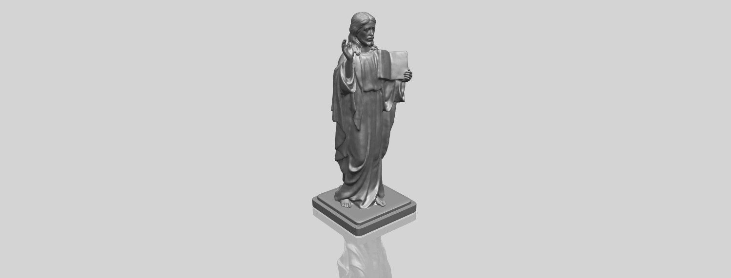 19_TDA0237_Jesus_vA00-1.png Download free STL file Jesus 05 • 3D print object, GeorgesNikkei