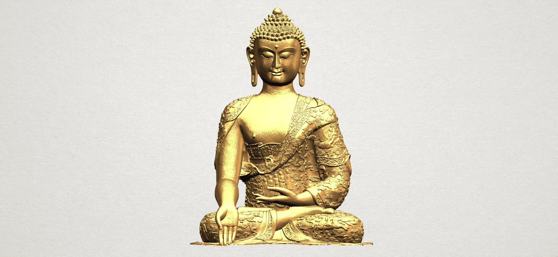 Thai Buddha(i) A01.png Download free STL file Thai Buddha (i) • Model to 3D print, GeorgesNikkei