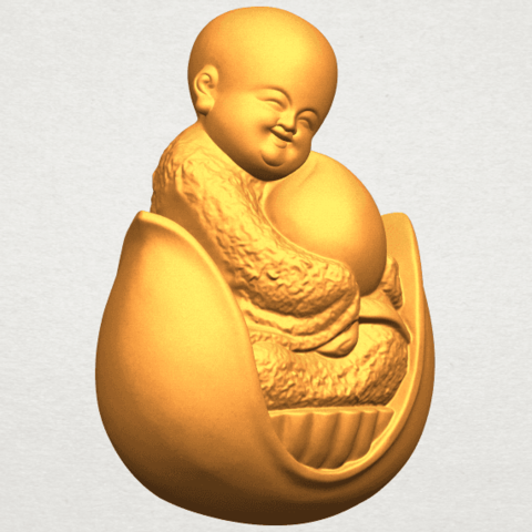 A10.png Download free STL file Little Monk 03 • 3D print template, GeorgesNikkei