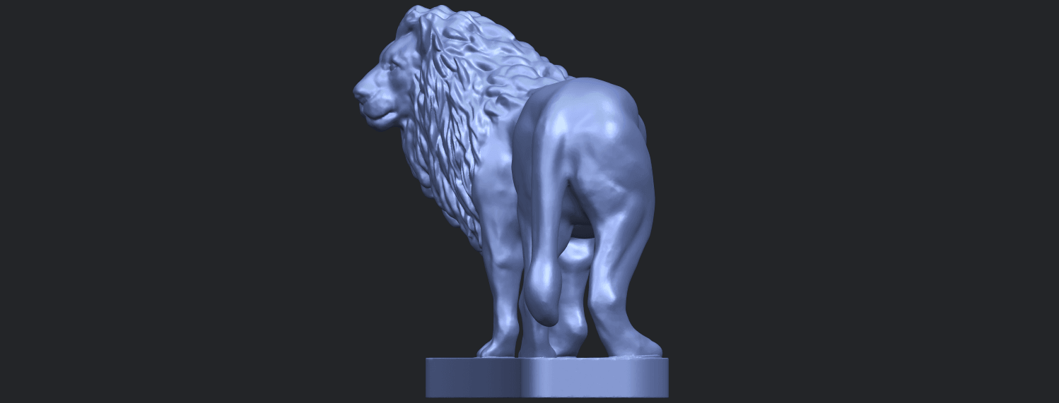 02_TDA0313_Lion_(iii)B03.png Download free STL file Lion 03 • 3D printable template, GeorgesNikkei