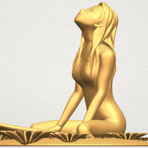 TDA0589 Girl surfing board 01 A03.png Download free STL file Girl surfing board 01 • 3D printing object, GeorgesNikkei