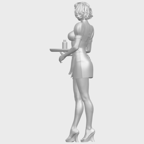 07_TDA0475_Beautiful_Girl_09_WaitressA05.png Download free STL file Beautiful Girl 09 Waitress • 3D printable object, GeorgesNikkei