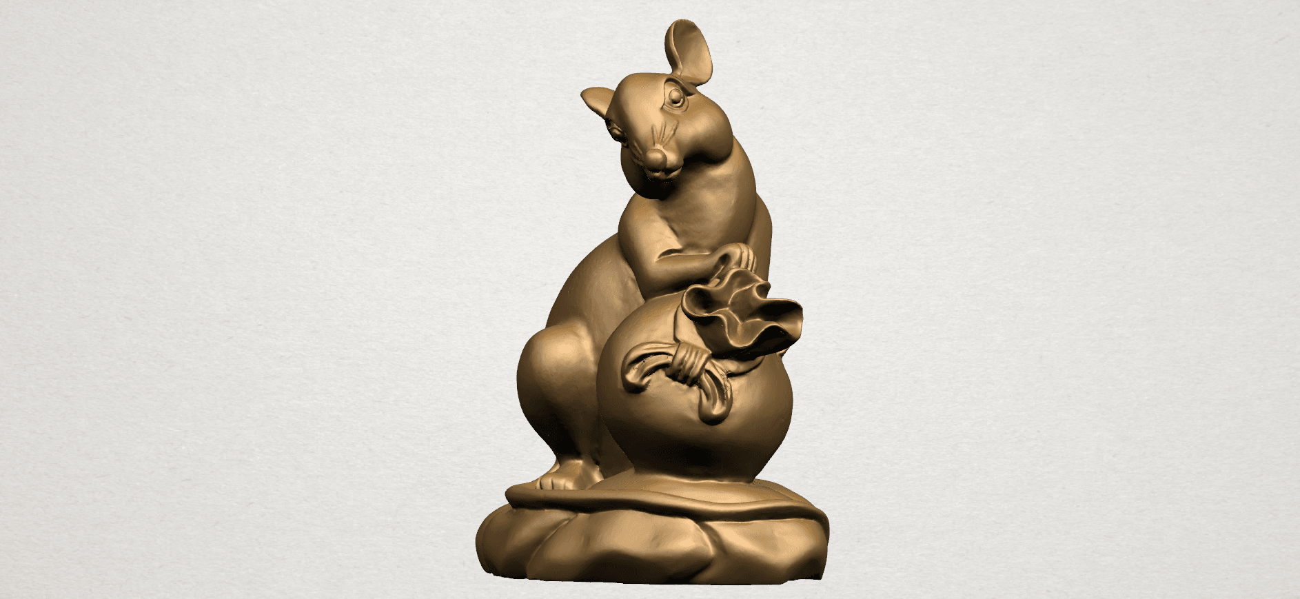 Chinese Horoscope01-A04.png Download free STL file Chinese Horoscope 01 Rat • 3D printing object, GeorgesNikkei