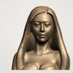 Beautiful Girl - Half Body A01.png Download free STL file Beautiful Girl - Half Body • 3D printing object, GeorgesNikkei