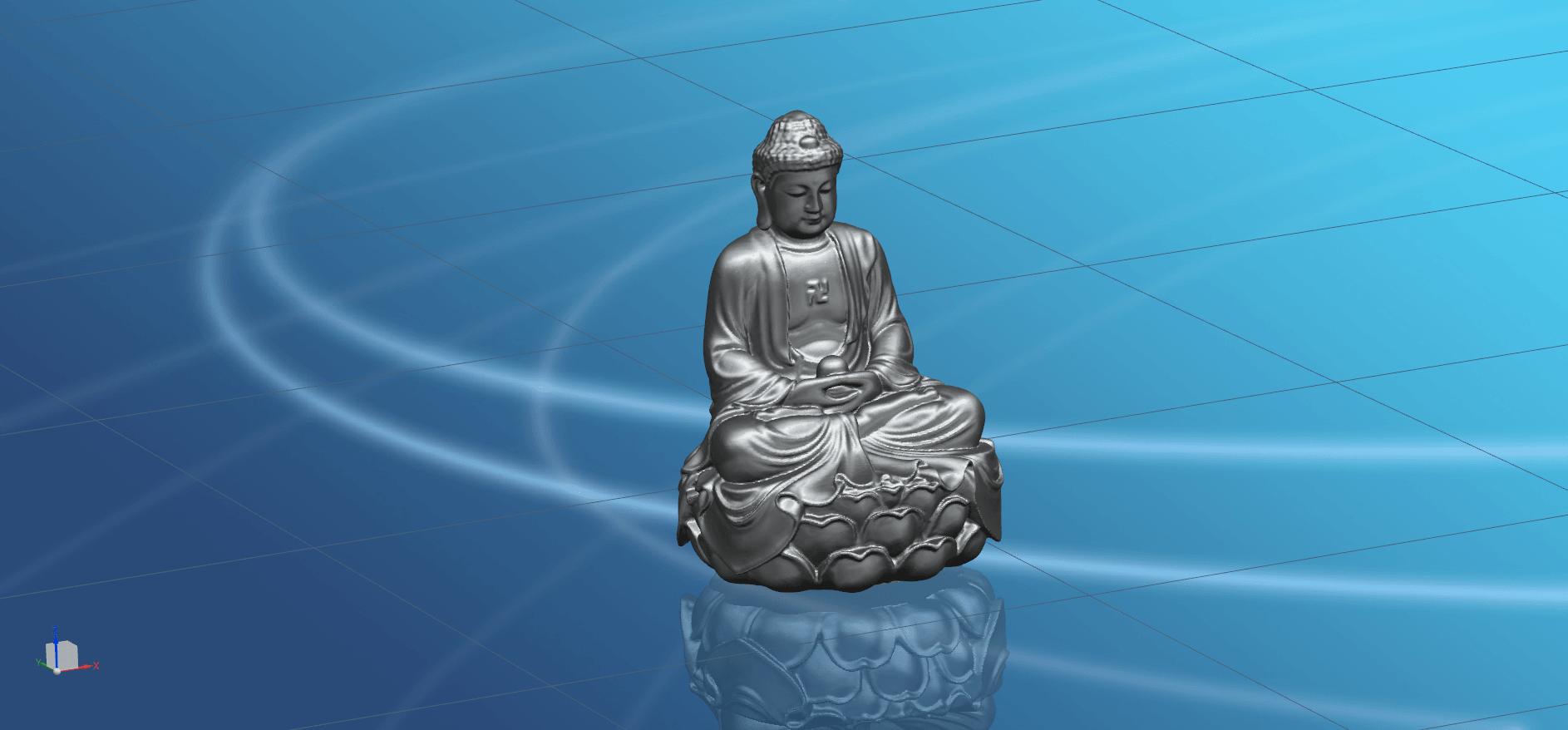 Gautama Buddha -02.png Télécharger fichier STL gratuit Gautama Bouddha 01 • Plan pour impression 3D, GeorgesNikkei