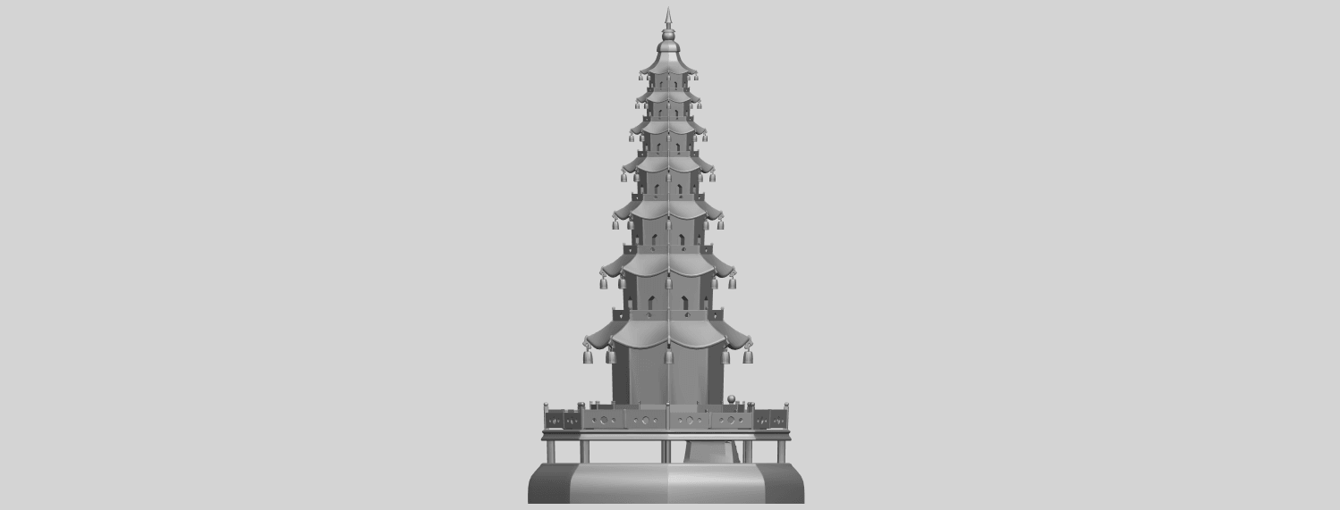03_TDA0623_Chiness_pagodaA07.png Download free STL file Chiness pagoda • Design to 3D print, GeorgesNikkei
