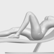 Free 3D print files Sexy Girl 13 - Lye on Chair, GeorgesNikkei