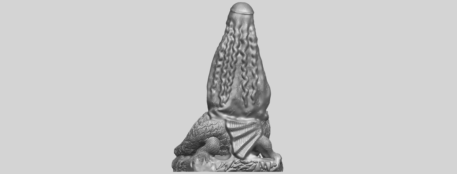 St Margaret 88mmA06.png Download free STL file Saint Margaret  • Template to 3D print, GeorgesNikkei