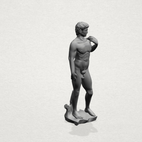 Michelangelo(i) -A04.png Download free STL file Michelangelo 01 • 3D printable template, GeorgesNikkei