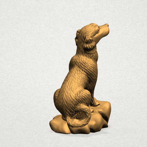 ZChinese Horoscope11-A03.png Download free STL file Chinese Horoscope 11 Dog • 3D print design, GeorgesNikkei